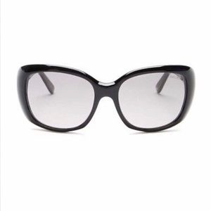 Squared Black Oversized Smoke Gradient Sunglasses